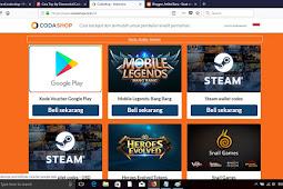 Top up Kredit game online mulai 3000 perak di codashop