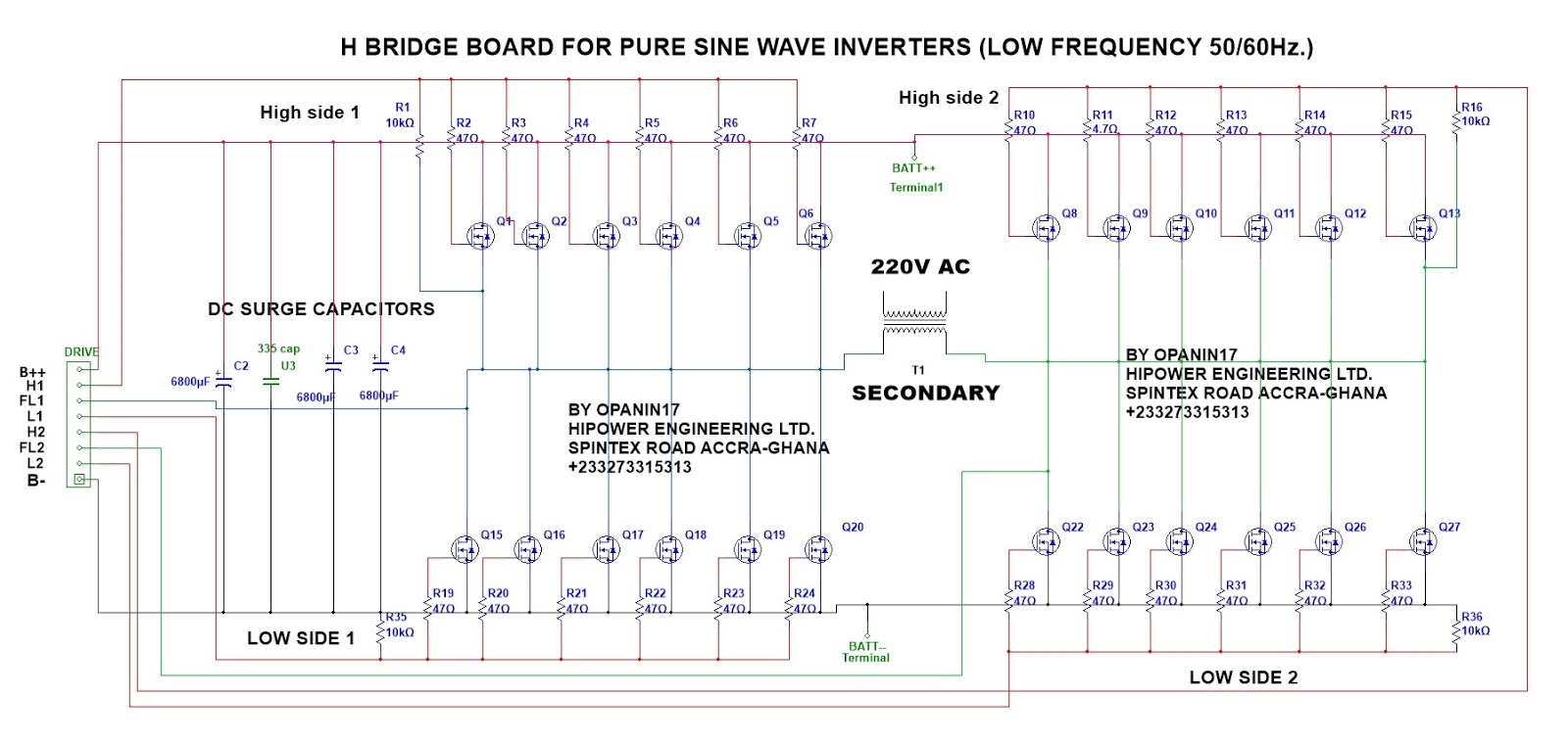 Many Circuits Electronics H Bridge Circuit Mosfet The For Pure Sine Inverters Is Also Know As Or Power Amplifying Stage Click Below To Read More