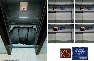 funny creative advertisements in elevators