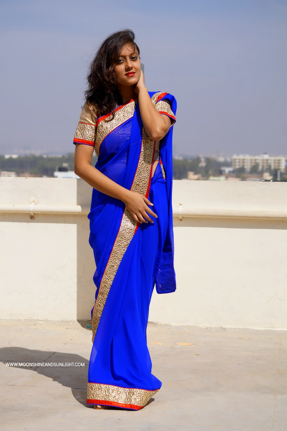 Dressing up for the wedding season with Sareez.com , Fashion blogger Bangalore