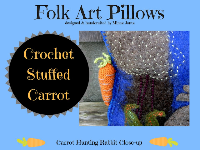 Carrot Hunting Rabbit designed & handmade by Minaz Jantz