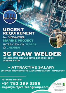 FCAW Welder for Marine Project in Singapore