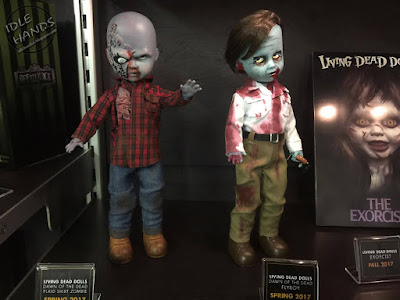 Toy Fair 2017: Mezco's Horror Toys Living Dead Dolls Dawn of the Dead Zombies