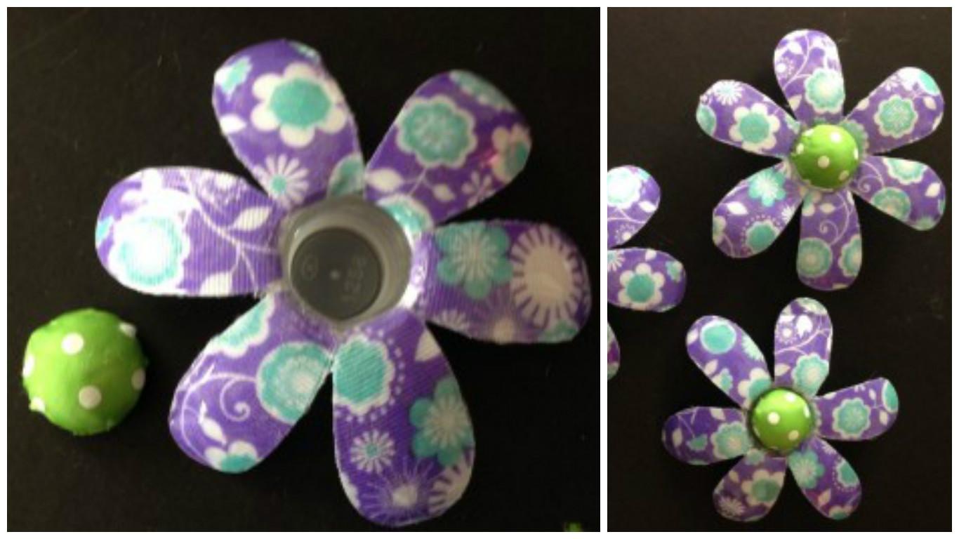 Aprende c mo hacer flores con botellas de pl stico y for Como pegar plastico