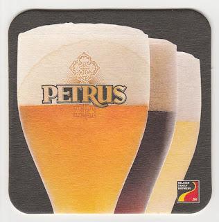 sous-bock de la bière blonde belge Petrus