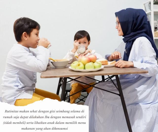 rutinitas makan sehat dengan gizi seimbang