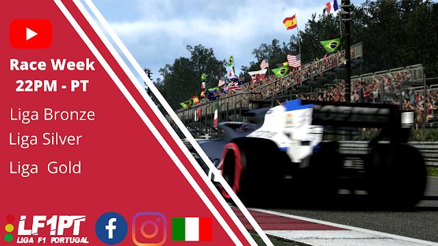 Liga F1 Virtual Portugal viaja até ao circuito de Monza em Italia