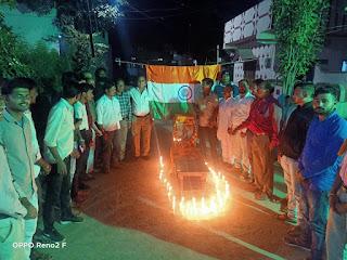 पुलवामा के शहीद जवानों को अखिल भारत हिन्दू महासभा ने दी श्रद्धांजलि
