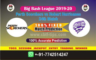 Perth vs Hobart Dream11 Prediction, Fantasy Cricket Tips & Playing XI Updates for Today's BBL T20 24th Match