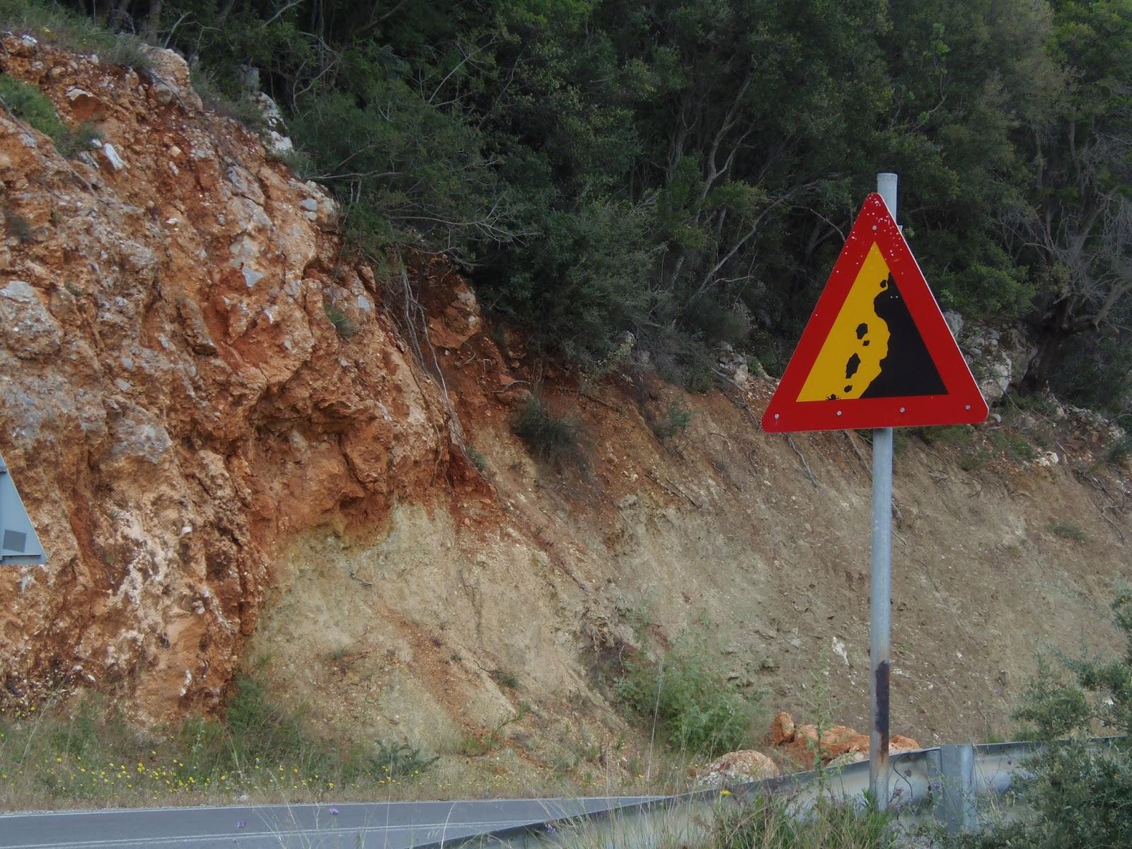 jeep safari, road sign, cliffs, mountain, travel, traveling