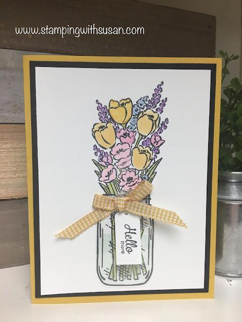 Stampin' Up!, Jar of Flowers, Stampin' Blends, www.stampingwithsusan.com,