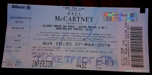 Show de Paul McCartney, Alianz Park, São Paulo, março de 2019