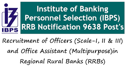 IBPS RRB NOTIFICATION 2020 Office Assistant Multi purpose 9368 Post's
