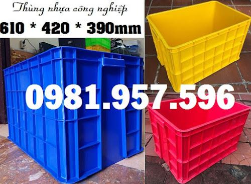 Thùng đựng hàng dung tích 80L, thùng nhựa có nắp 80L
