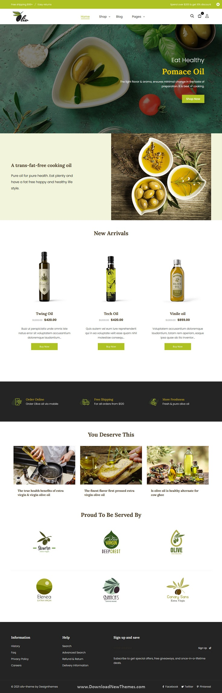 Olive Oil and Food Shop Shopify Theme