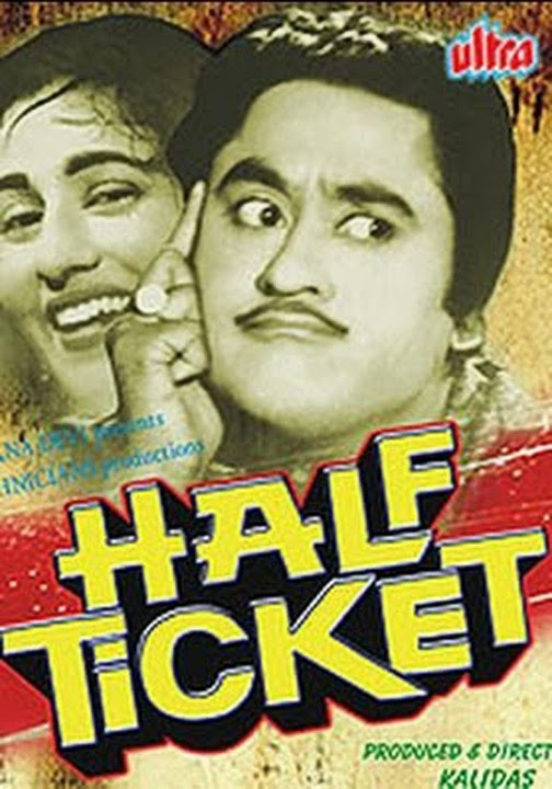 Poster Of Bollywood Movie Half Ticket (1962) 300MB Compressed Small Size Pc Movie Free Download worldfree4u.com