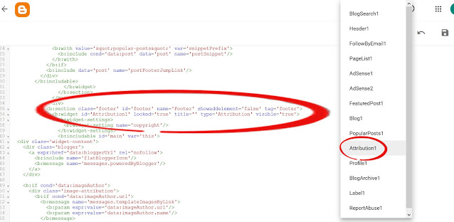 Removing blogger attribution code