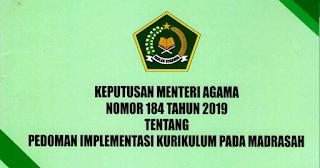 Download KMA NOMOR 184 TAHUN 2019 TENTANG PEDOMAN IMPLEMENTASI KURIKULUM PADA MADRASAH