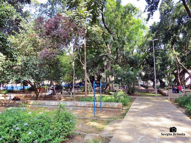 Vista de parte da Praça Conde Francisco Matarazzo Junior - Barra Funda - São Paulo
