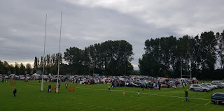 Car boot sale at Burnage Rugby Football Club in Stockport