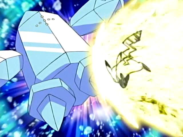 Pikachu contra Regice Anime