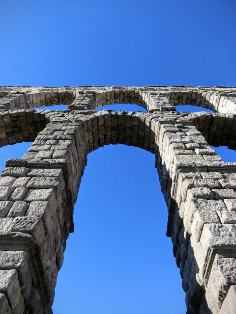 The Aqueduct in Segovia Spain