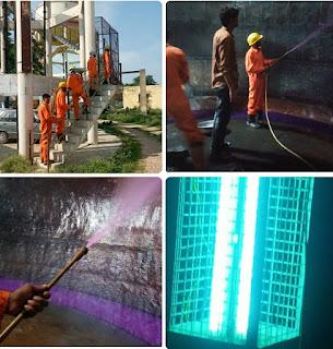 लखनऊ : ओवर हेड टैंक की वैज्ञानिक विधि से कराई गई साफ सफाई