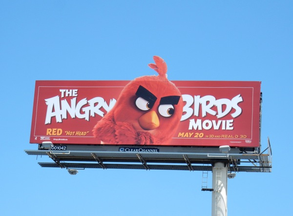 Angry Birds Movie Red billboard