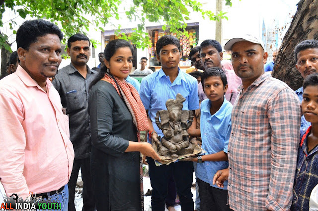 Swetha Mohanty at Eco Friendly Ganesh Distribution