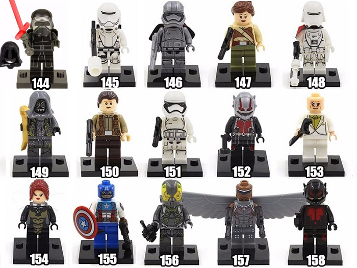 boneco lego star wars super herois vingadores marvel