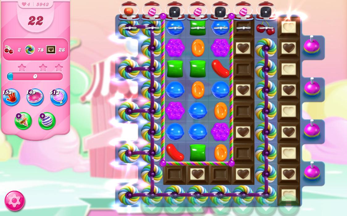 Candy Crush Saga level 5943