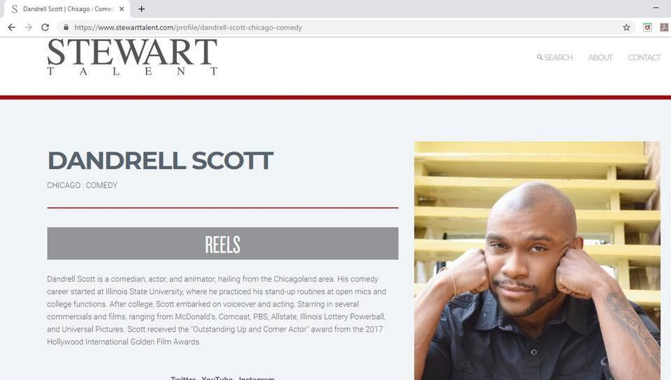 NEWS: Dandrell Scott Signs with Stewart Talent Agency
