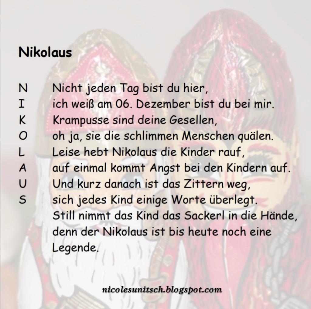 Gedichte Von Nicole Sunitsch Autorin Nikolaus Gedicht Von