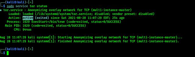 Los servicios de Tor se están ejecutando