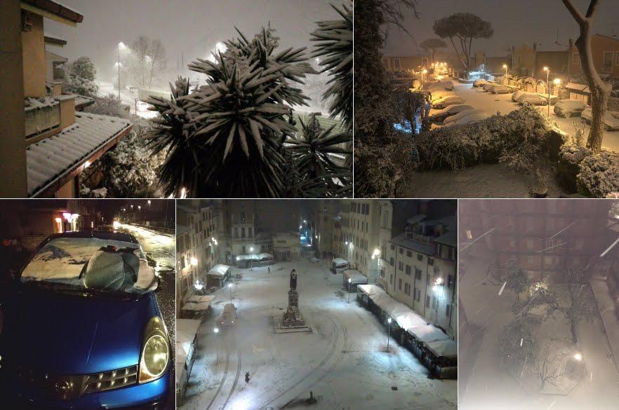 Stupende immagini di Roma ricoperta di neve | Raccolta Foto Video
