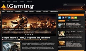 iGaming 2 Column Blogger Template