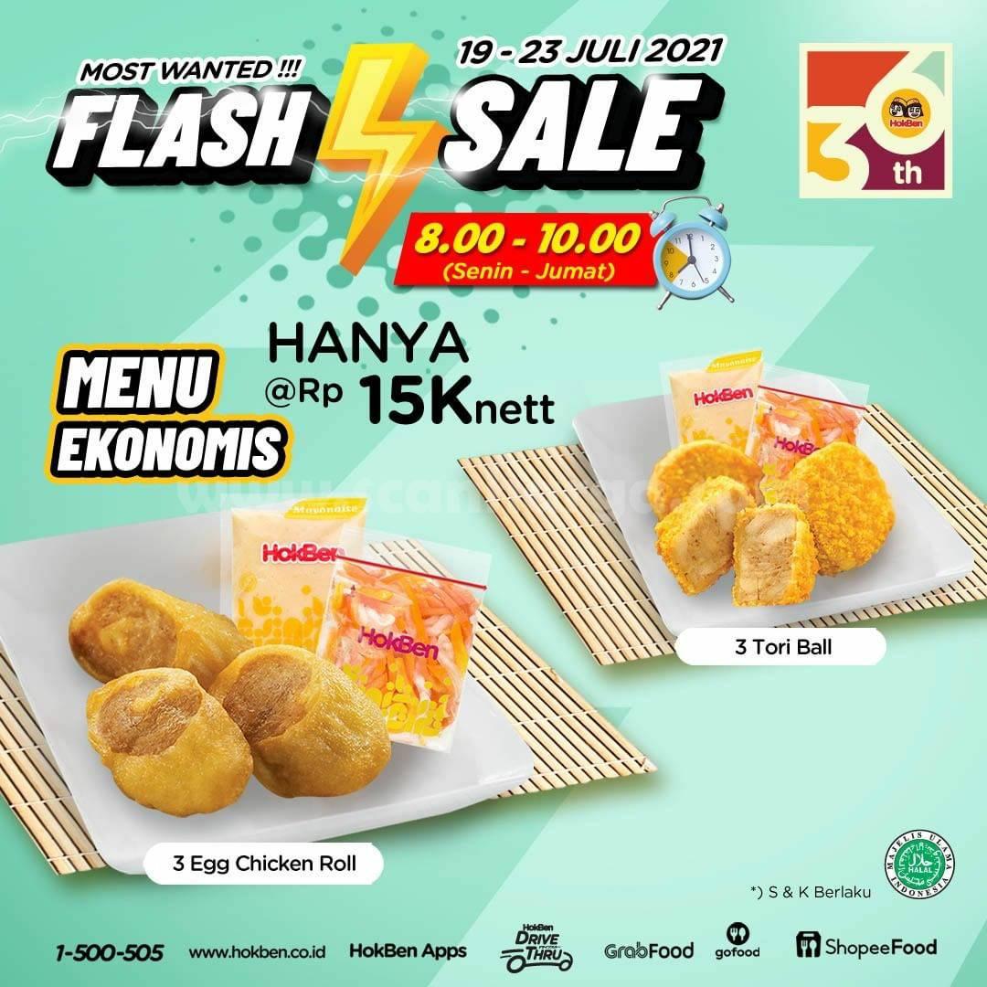 HOKBEN Promo FLASH SALE - Menu Ekonomis hanya Rp. 15.000
