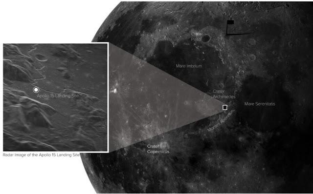 Local de pouso da missão Apollo 15 em contexto