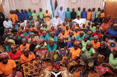 82 freed Chibok school girls to meet their parents this Friday May 19th