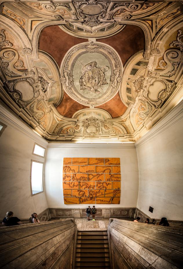 Escalera, Monasterio de los Jerónimos :: Panorámica 11x Canon EOS5D MkIII | ISO800 | Canon 17-40@17mm | f/4.0 | 1/25s