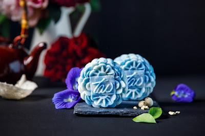 Bánh dẻo tuyết hoa đậu biếc - Butterfly pea snows kin mooncake 3