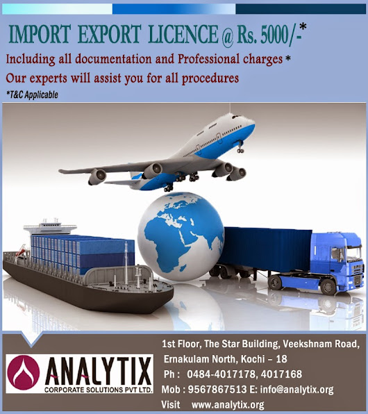 Analytix - A Perfect partner for your Import - Export license & documentations..