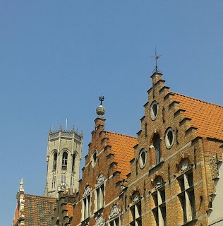 Bruges medieval buildings
