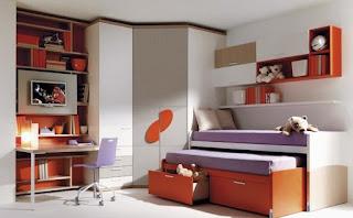 habitación dos chicas modernas