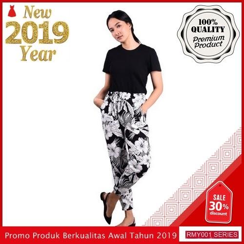 RMY063J39 Jeje Casual Celana Joger Keren Motif Trendy BMGShop