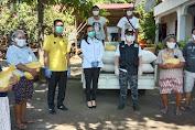 James Kojongian Dan Michaela Paruntu Bagikan Sembako Masker Kemasyarakat