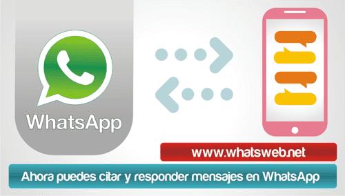 Como citar y responder un mensaje en WhatsApp