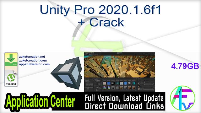 Unity Pro 2020.1.6f1 + Crack