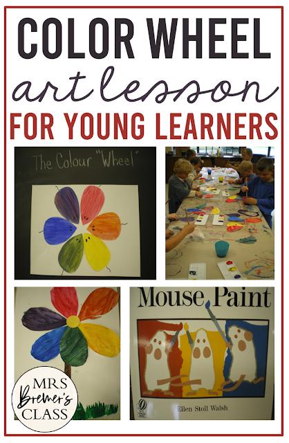 Mouse Paint by Ellen Walsh Color Wheel Art Lesson