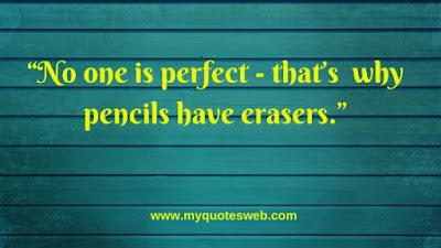 Best Quote Of The Day - No One Is Perfect